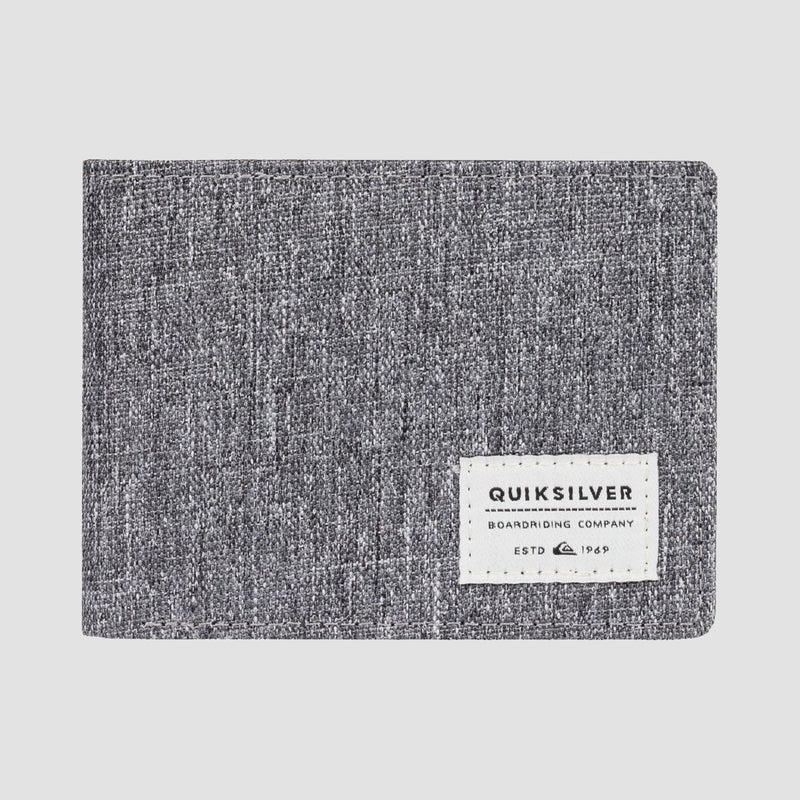Quiksilver Slim Vintage Bi-Fold Wallet Light Grey Heather