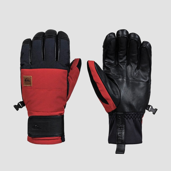 Quiksilver Squad Snow Gloves Barn Red - Snowboard