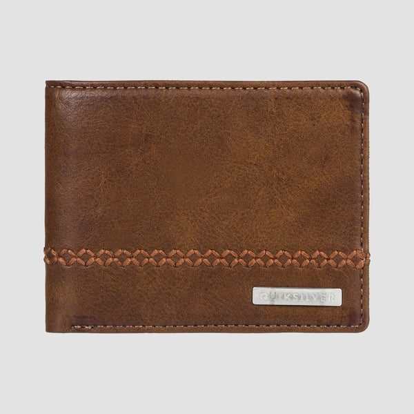 Quiksilver Stitchy 2 Bi-Fold Wallet Chocolate Brown