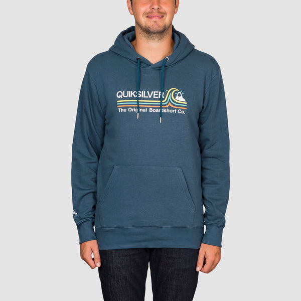 Quiksilver Stone Cold Classic Pullover Hood Majolica Blue