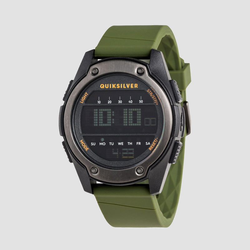 Quiksilver Stringer Digital Watch Black/Black/Army