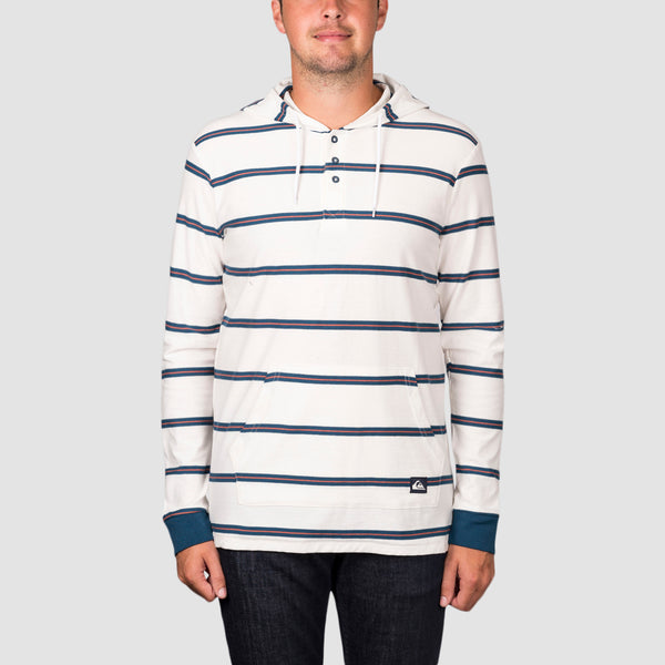 Quiksilver Surfset Longsleeve Hooded Polo Top Snow white