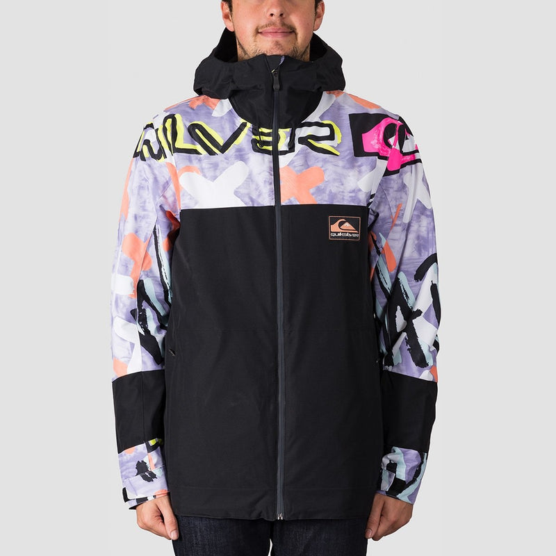 Quiksilver Sycamore Anniversary Snow Jacket Black Warpaint - Snowboard