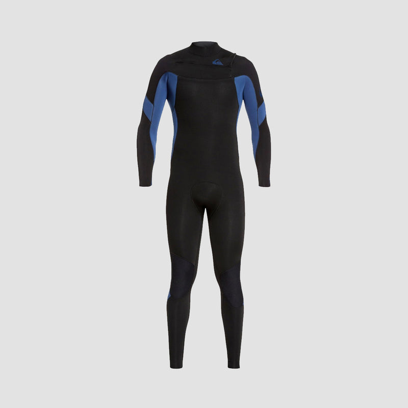 Quiksilver Syncro 5/4/3mm Chest Zip Wetsuit Black Black/Iodine Blue Iodine
