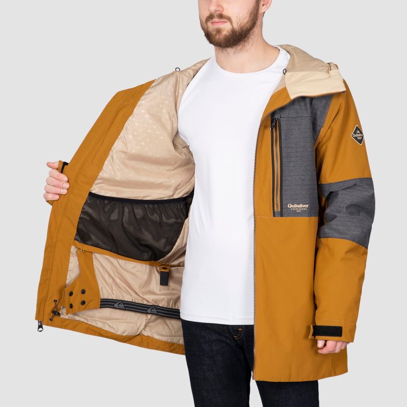 Quiksilver Tamarack Snow Jacket Bronze Brown
