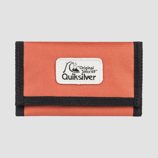 Quiksilver The Everydaily Tri-Fold Wallet Redwood