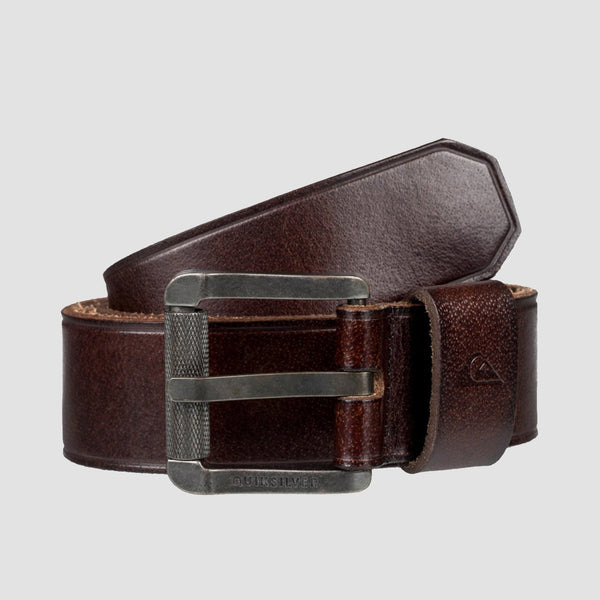 Quiksilver The Everydaily II Leather Belt Chocolate