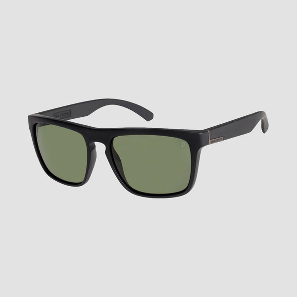 Quiksilver The Ferris Sunglasses Matte Black/Green Polarised