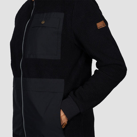 Quiksilver Track Hybrid Sherpa Fleece Black - Clothing