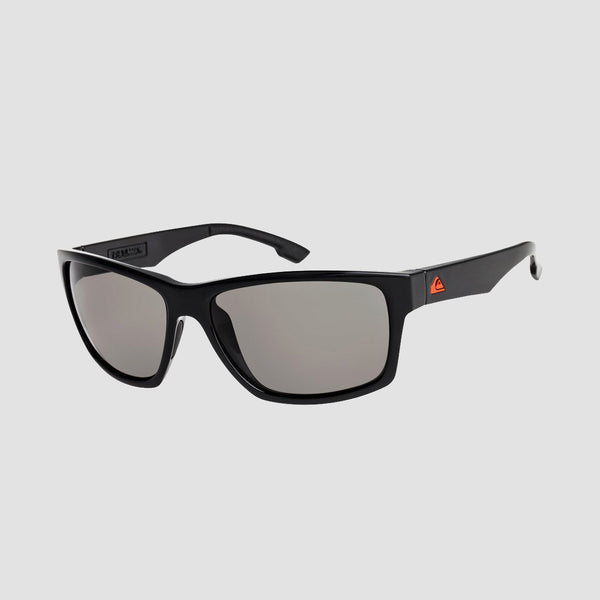 Quiksilver Trailway Sunglasses Shiny Black/Grey