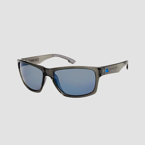 Quiksilver Trailway Sunglasses Shiny Crystal Smoke/Flash Blue