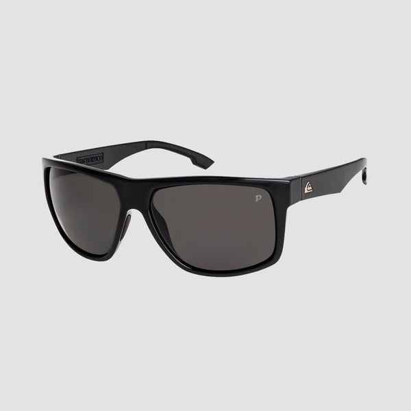 Quiksilver Transmission Sunglasses Shiny Black/Polarised Grey
