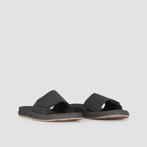 Quiksilver Travel Oasis Slider Black/Black/Brown - Footwear
