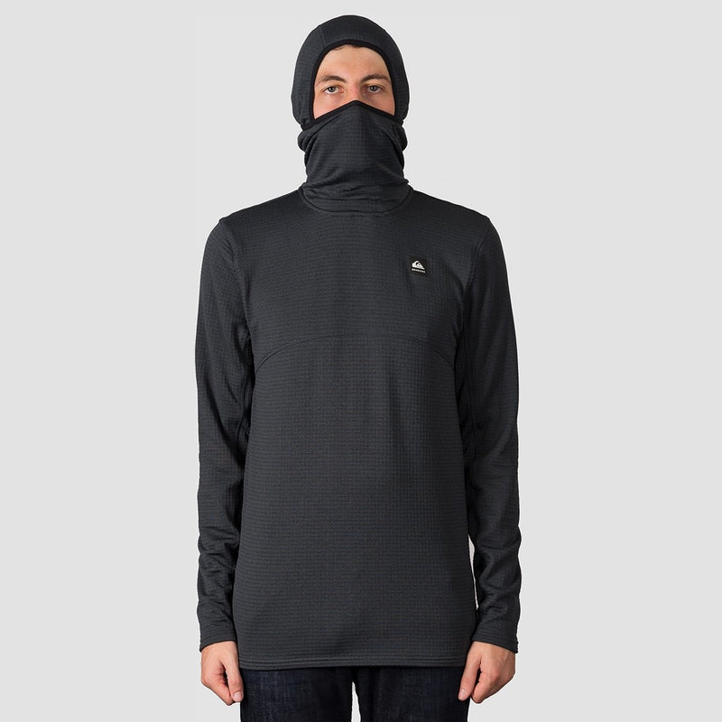 Quiksilver Travis Rice Log Polartec Pullover Hooded Fleece Black - Snowboard