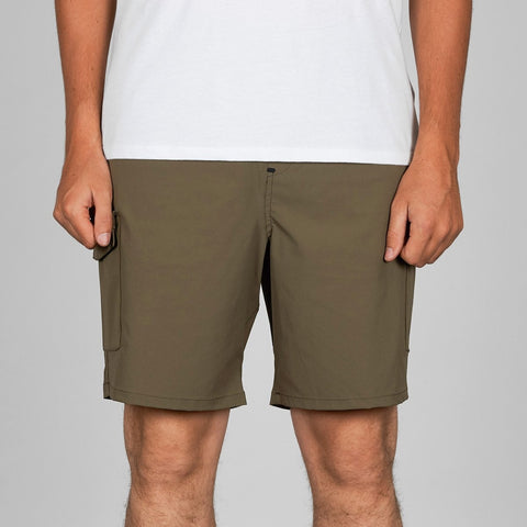 "Quiksilver Waterman Explorer 19"" Technical Shorts Stone Gray"