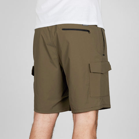 Quiksilver Waterman Explorer 19 Technical Shorts Stone Gray - Clothing