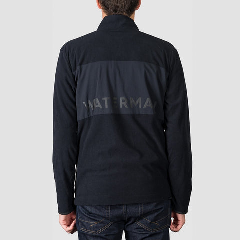 Quiksilver Waterman Hidden View Mock Neck Half-Zip Fleece Black - Clothing