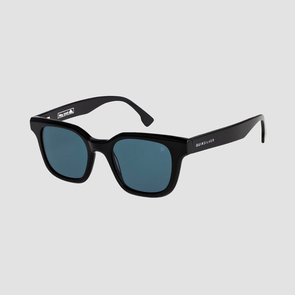 Quiksilver Way Back Sunglasses Shiny Black/Polarised Grey