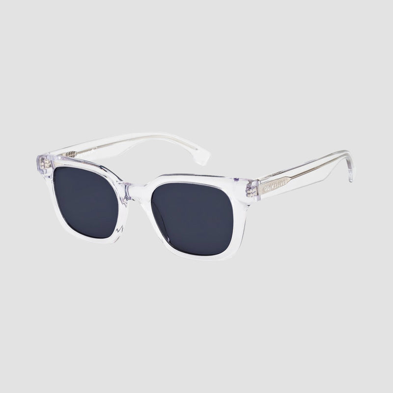 Quiksilver Way Back Sunglasses Shiny Crystal Clear/Grey