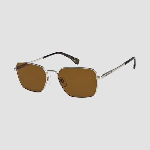 Quiksilver Wizard Sunglasses Matte Silver/Brown