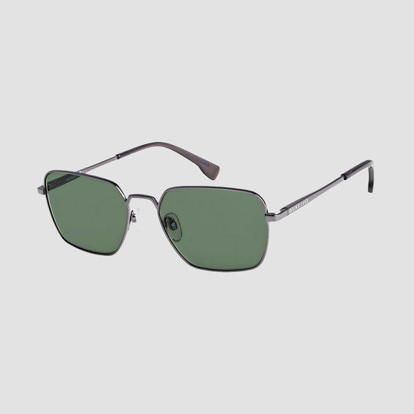 Quiksilver Wizard Sunglasses Shiny Gun/Green