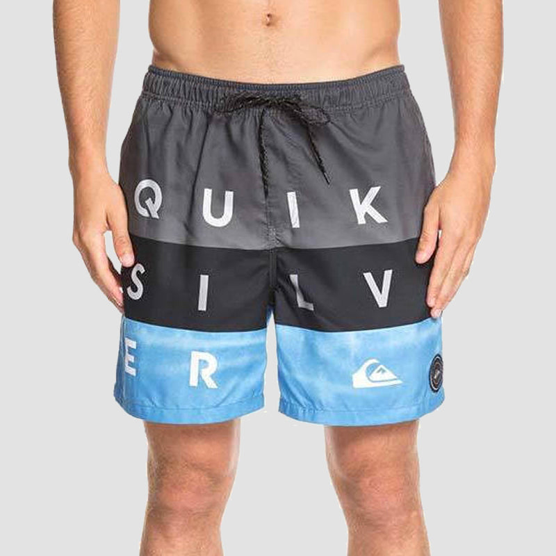 "Quiksilver Word Block Volley 17"" Swim Shorts Iron Gate"
