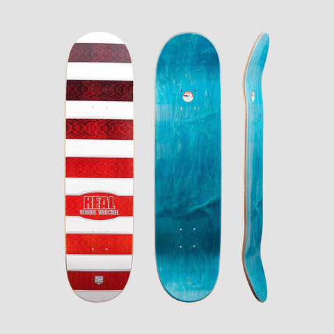 Real Low Mellow Robbie Sonoran Pro Deck White/Red - 8.06 - Skateboard