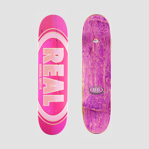 Real Oval Duo Fades PP Deck Pink - 7.38""