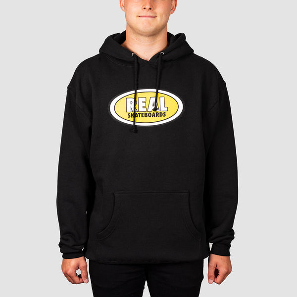Real Oval Pullover Hood Black/Yellow