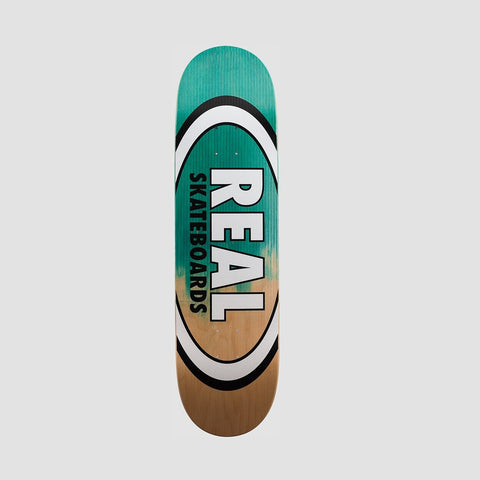 Real Shine On Team Oval Deck Teal/Natural - 8.5""