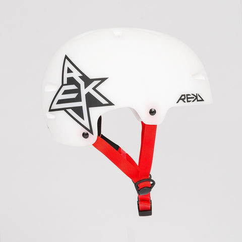 REKD Elite Icon Semi Transparent Helmet White/Black