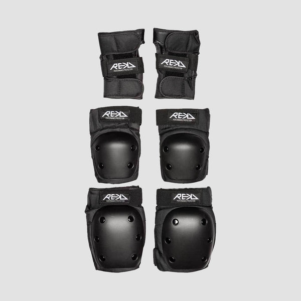 REKD Heavy Duty Triple Pad Set Black - Safety Gear