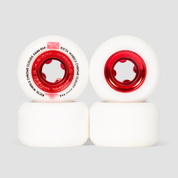 Ricta Chrome Clouds 86a Wheels Red 56mm