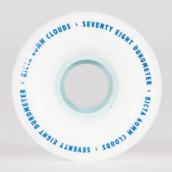 Ricta Clouds 78a Wheels White/Blue 60mm - Skateboard