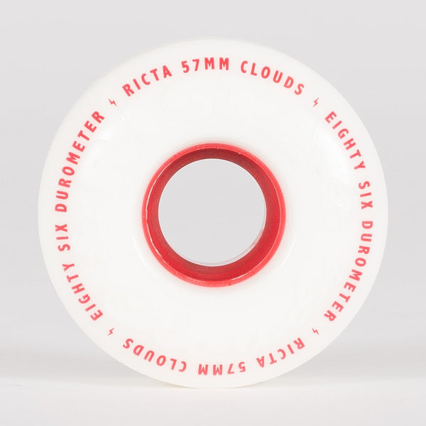 Ricta Clouds 86a Wheels White/Red 57mm - Skateboard