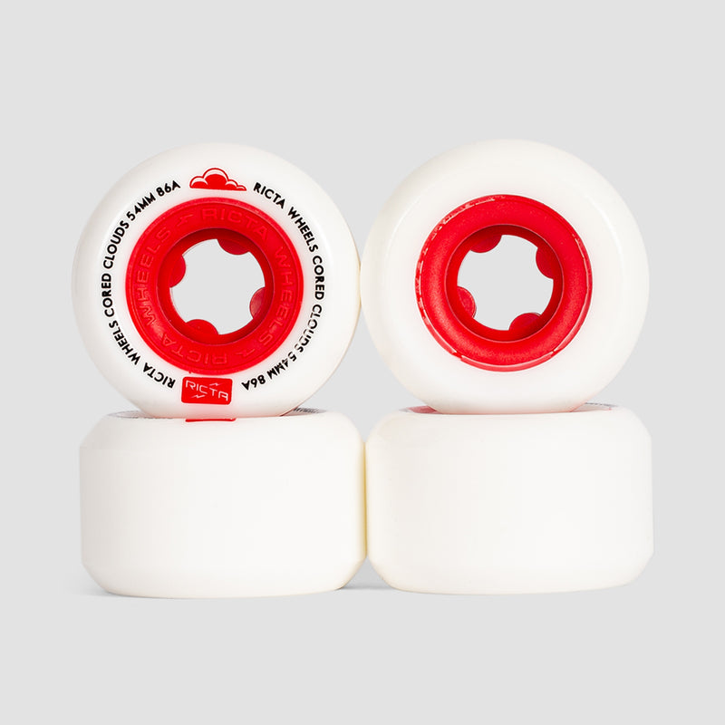 Ricta Cored Clouds 86a Wheels Red 54mm