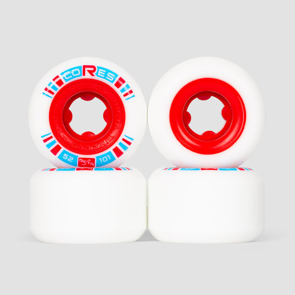 Ricta Cores 101a Wheels White/Red 52mm