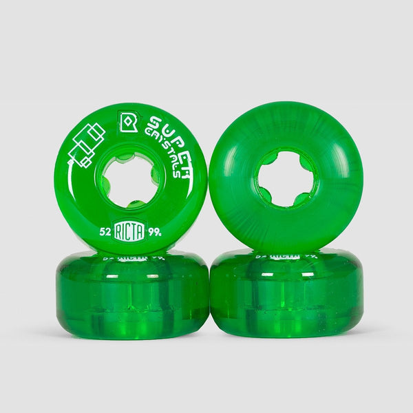 Ricta Super Crystals 99a Wheels Green 52mm - Skateboard
