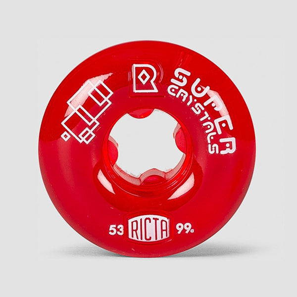 Ricta Super Crystals 99a Wheels Red 53mm - Skateboard