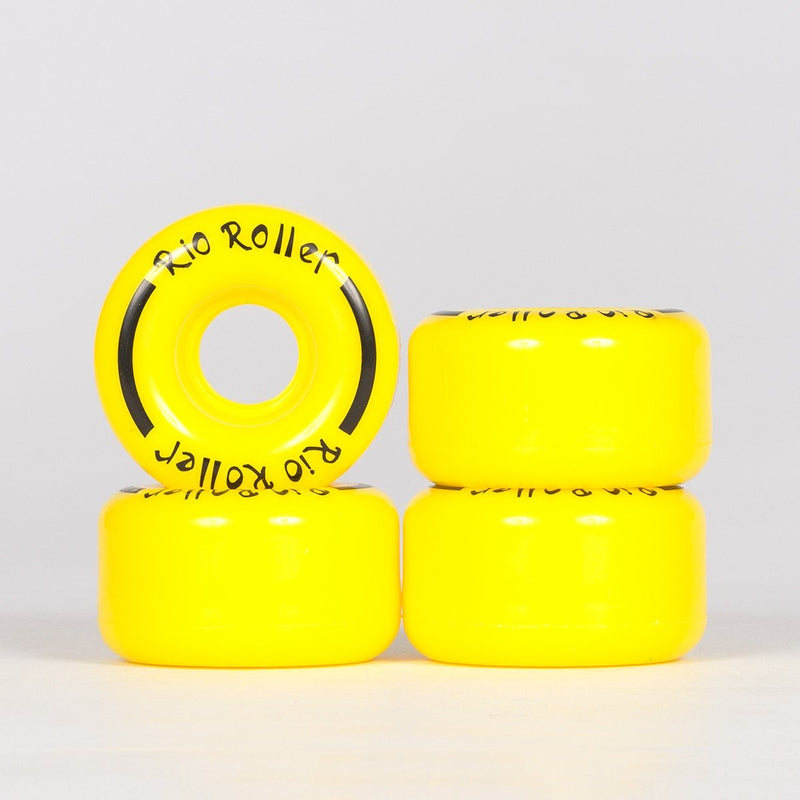 Rio Roller Coaster Wheels x4 Yellow 62mm - Skates