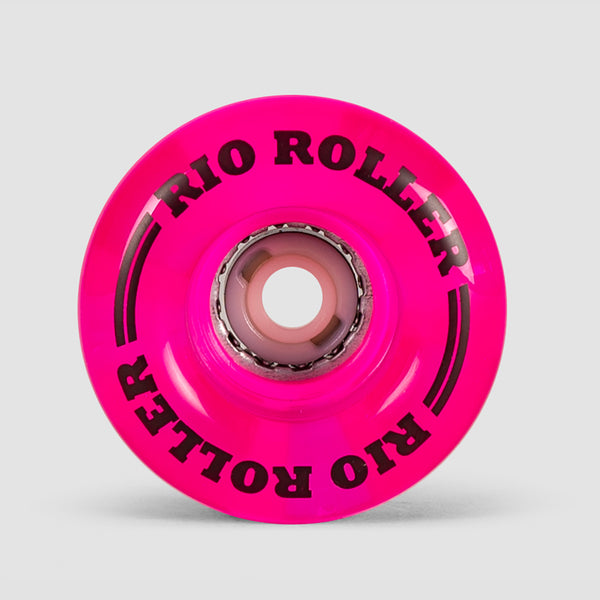 Rio Roller Light Up Wheels X4 Pink Frost 58mm