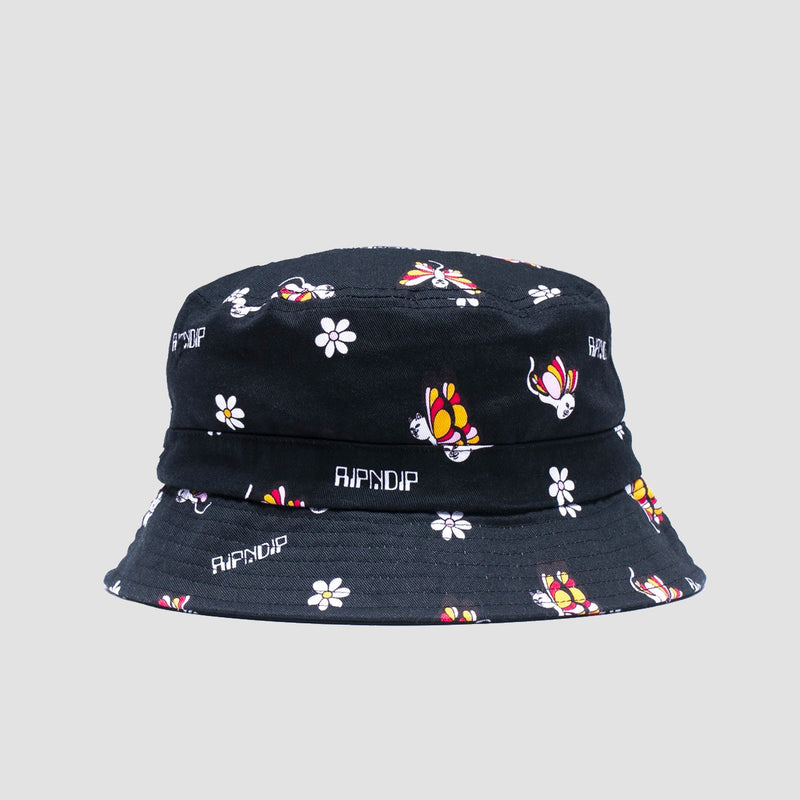 Ripndip Butterfly Bucket Hat Black