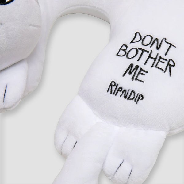 Ripndip Don't Bother Me Neck Pillow White