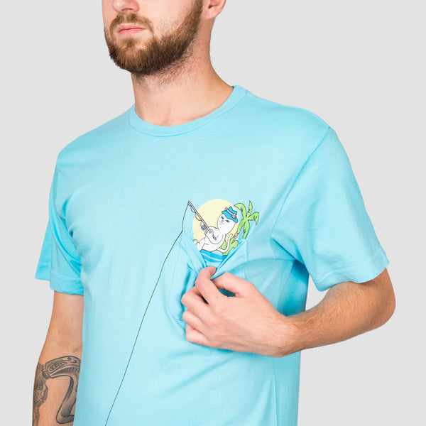 Ripndip Foreign Fish Pocket Tee Light Blue