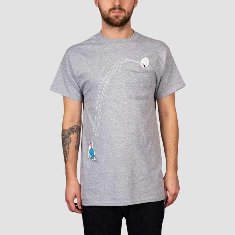 Ripndip Hoops Pocket Tee Heather Grey