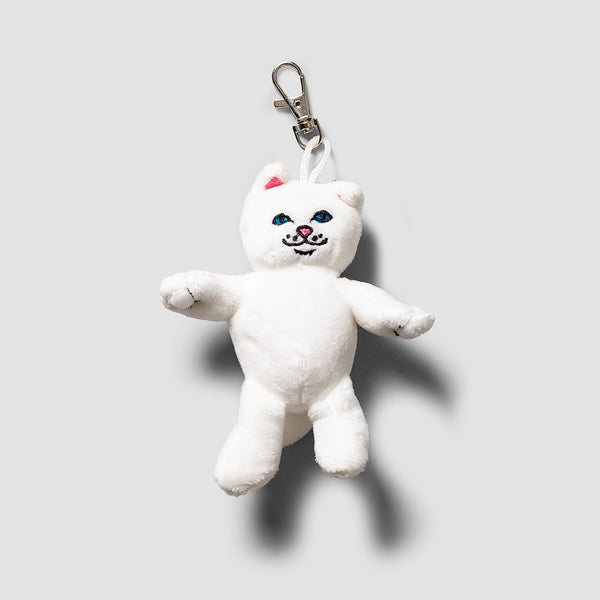 Ripndip Lord Nerm Mini Plush Keychain White