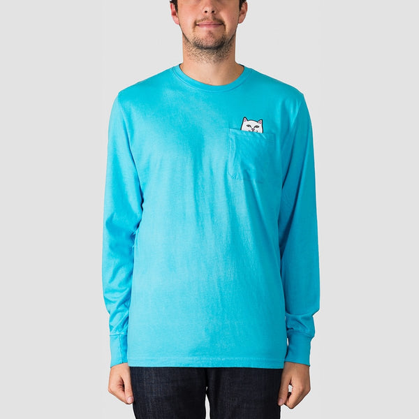 Ripndip Lord Nermal Longsleeve Pocket Tee Blue - Clothing