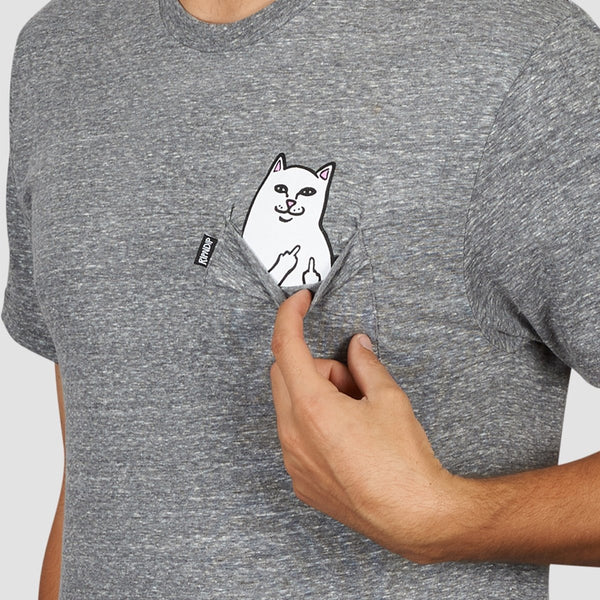 Ripndip Lord Nermal Pocket Tee Heather Grey - Clothing