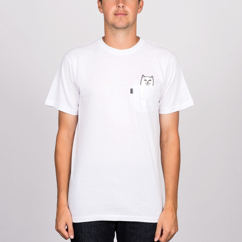 Ripndip Lord Nermal Pocket Tee White - Clothing
