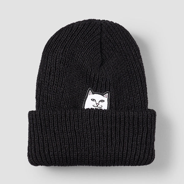 Ripndip Lord Nermal Rib Beanie Black - Unisex - Accessories